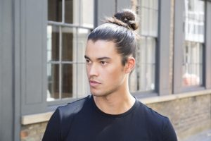 man-bun hairstyle