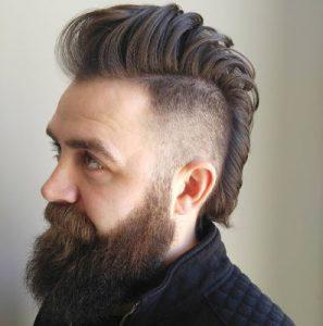 Model rambut Mohawk Fade