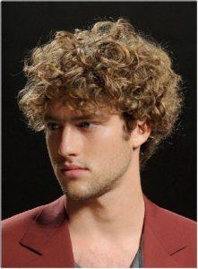 model rambut keriting pria