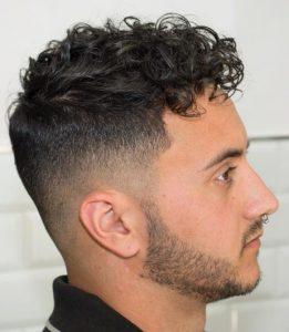 model rambut pria keriting 2019