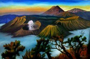 lukisan_pemandangan_alam_gunung_bromo