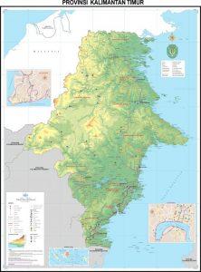 Kalimantan Timur Peta Indonesia