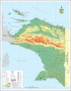 Peta Papua Irian Jaya Indonesia