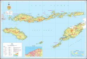 peta ntt indonesia lengkap