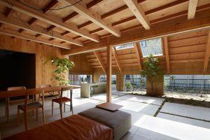 Desain rumah dengan penambahan ruang santai