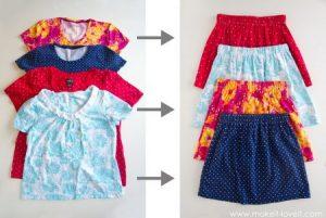 cara mengubah baju menjadi rok