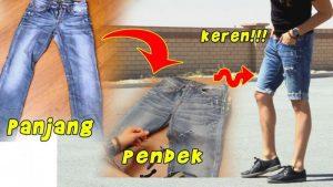 cara menjahit celana panjang menjadi pendek