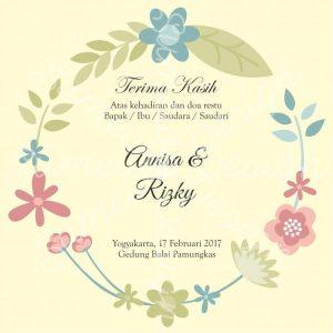 kartu ucapan terima kasih atas kehadiaran di pernikahan