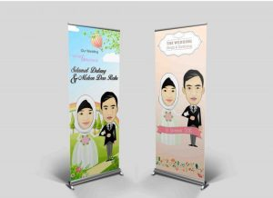 contoh design banner x wedding